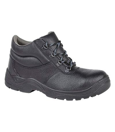 Grafters Mens Padded Collar D-Ring Chukka Safety Boots (Black) - UTDF1242