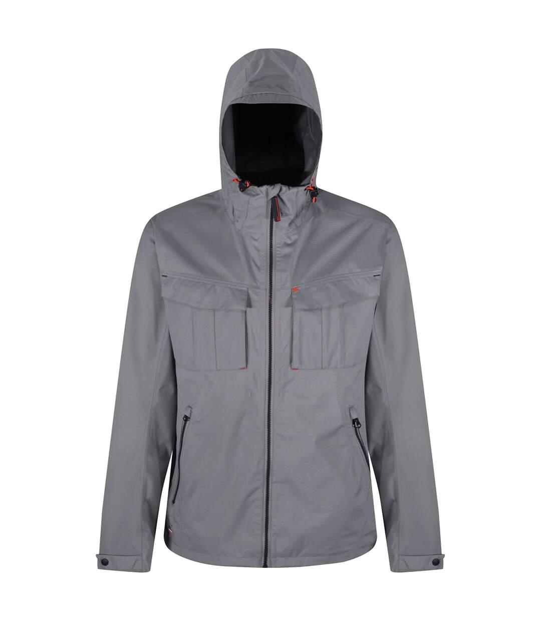 Regatta Great Outdoors Mens Bardolf Stretch Waterproof Jacket (Rock Grey) - UTRG3229