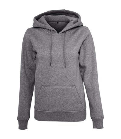 Build Your Brand Womens/Ladies Heavy Pullover Hoodie (Black) - UTRW5673