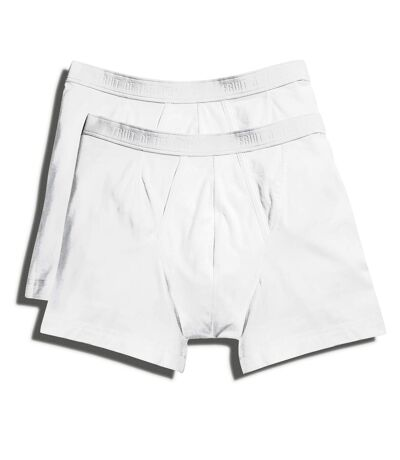 Fruit Of The Loom Mens Classic Boxer Shorts (Pack Of 2) (White) - UTBC3358
