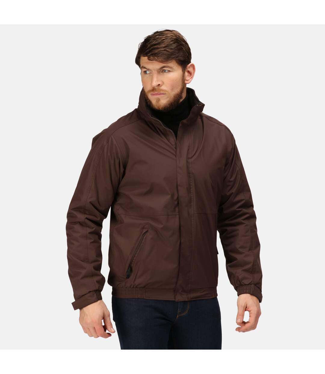 Regatta Dover Waterproof Windproof Jacket (Thermo-Guard Insulation) (Otter/Black) - UTRG1425