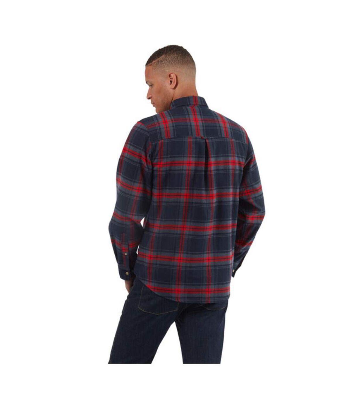 Craghoppers Mens Wilmot Checked Long-Sleeved Shirt (Navy) - UTCG1475