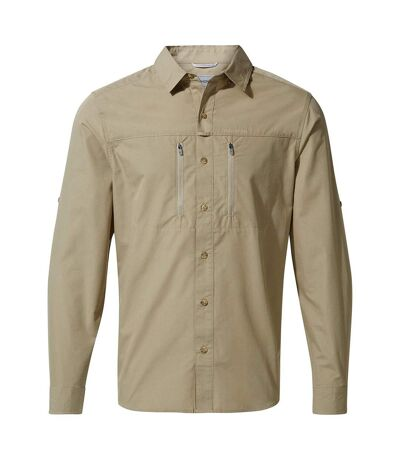 Craghoppers Mens Kiwi Boulder Long Sleeved Shirt (Rubble) - UTCG1103