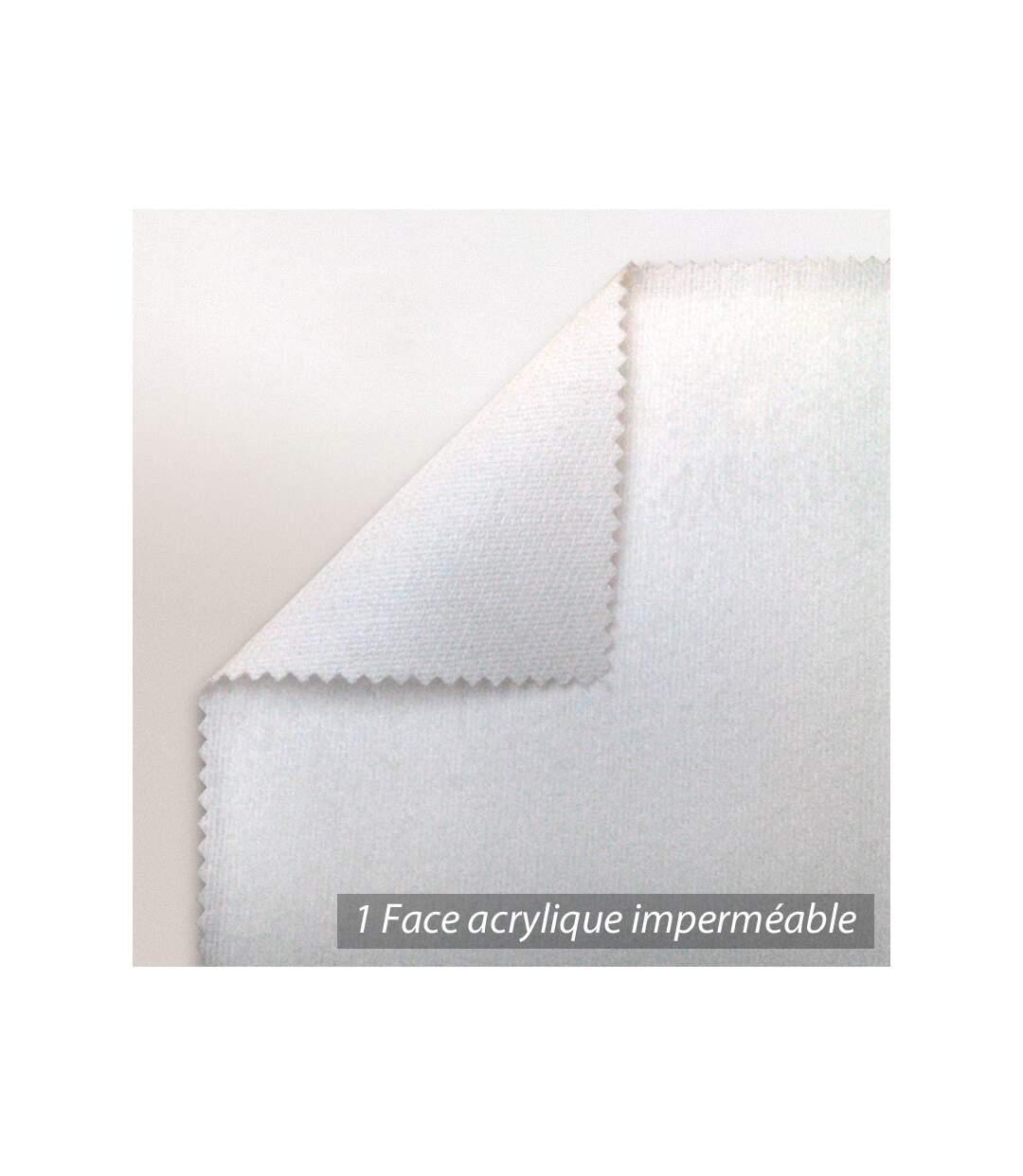 Protège matelas imperméable 140x220 cm ANTONY Molleton enduction acrylique Bonnet 30cm