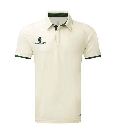 Surridge - Polo à manches courtes ERGO - Homme (Blanc / vert) - UTRW6275