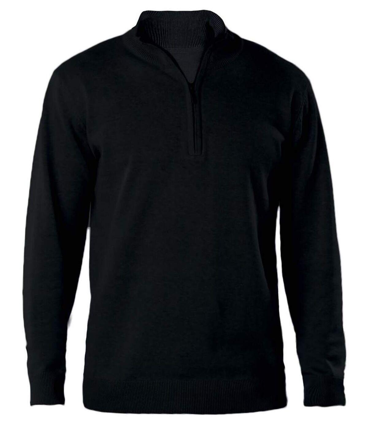 Pull col zippé pour homme - K970 - noir