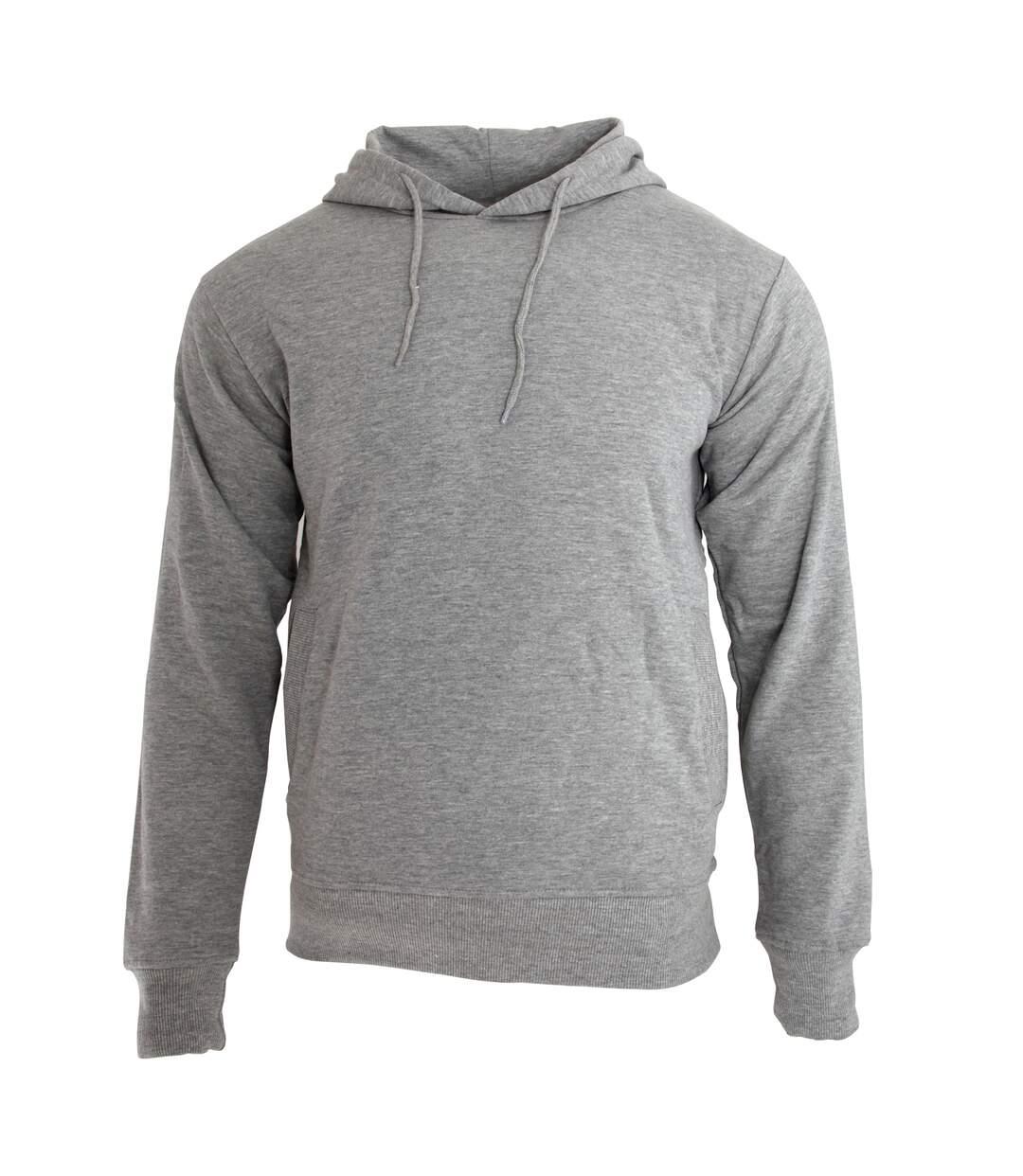 Nakedshirt - Sweat-Shirt À Capuche En Coton - Homme (Gris) - UTBC3762