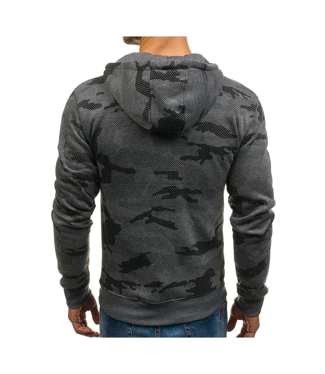 Veste zippée à capuche Veste camo M466 gris