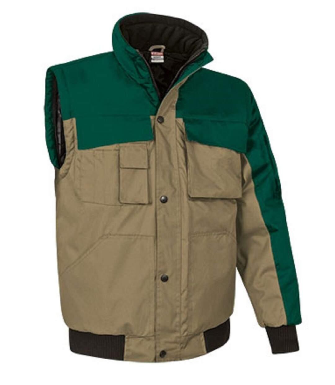 Parka - Homme - REF SCOOT - marron kamel et vert
