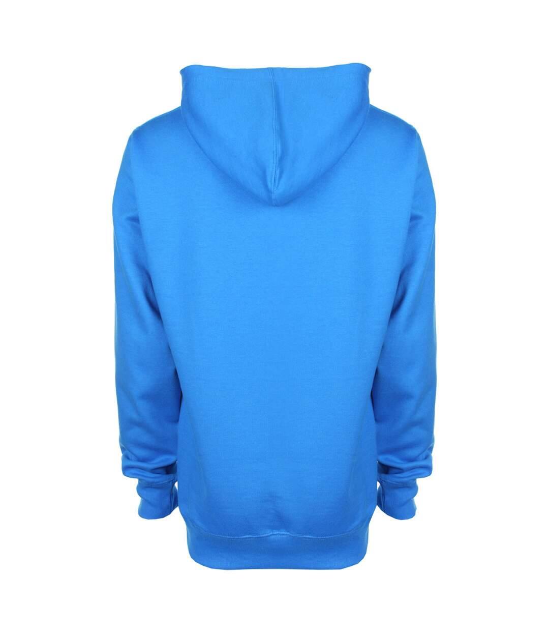 FDM Unisex Contrast Hooded Sweatshirt / Hoodie (300 GSM) (Sapphire/ Heather Grey) - UTBC2025