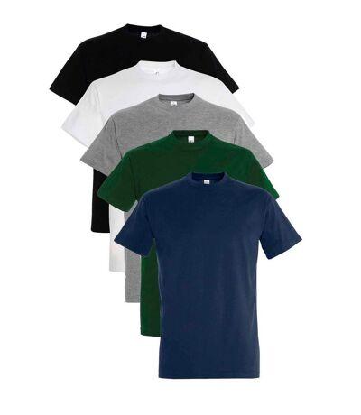 Lot 5 t-shirts manches courtes - Homme - multicolore