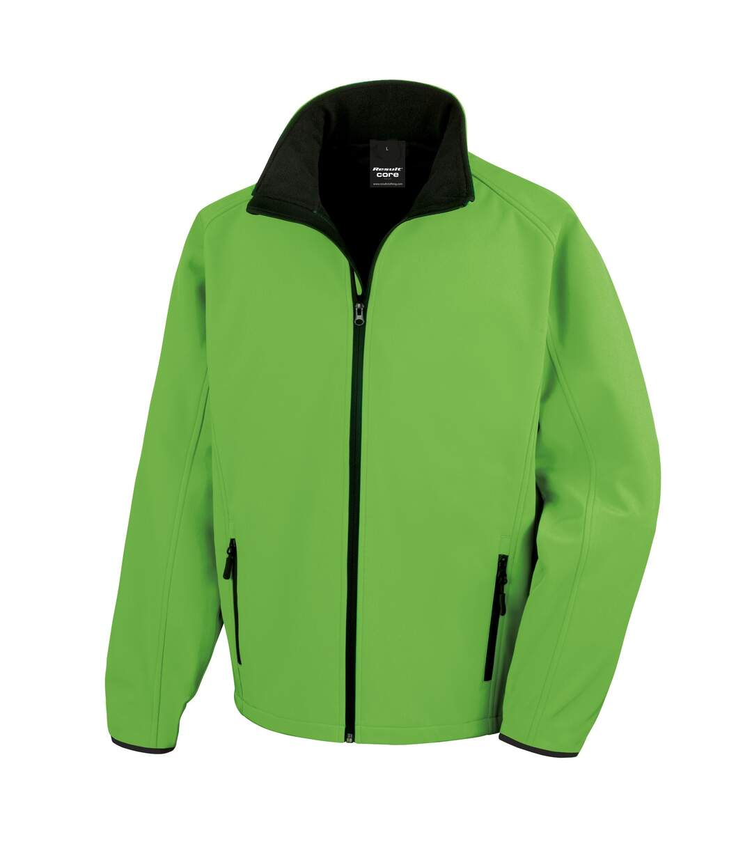 Result Mens Core Printable Softshell Jacket (Vivid Green / Black) - UTRW3697