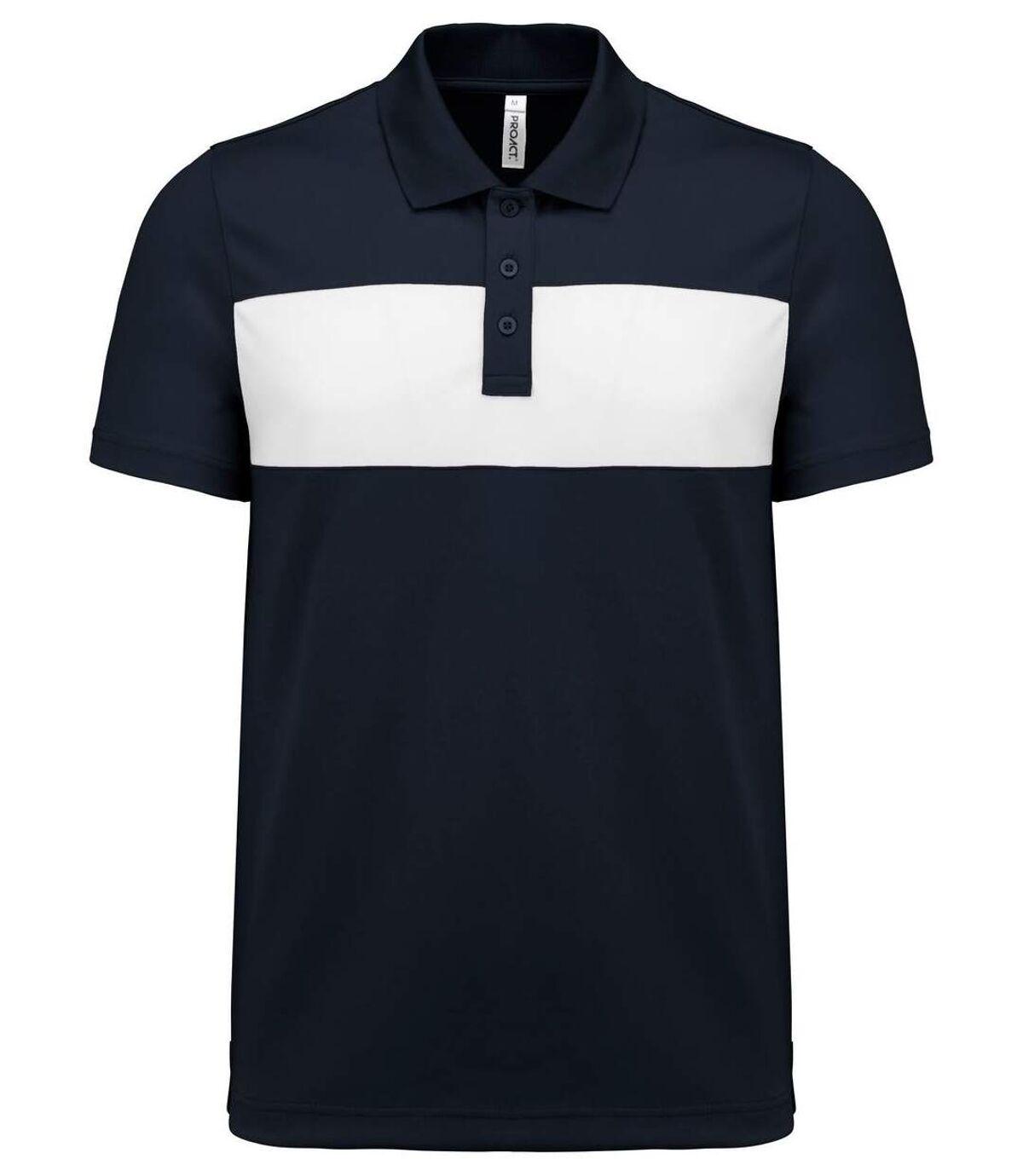 Polo sport - PA493 - bleu marine - manches courtes