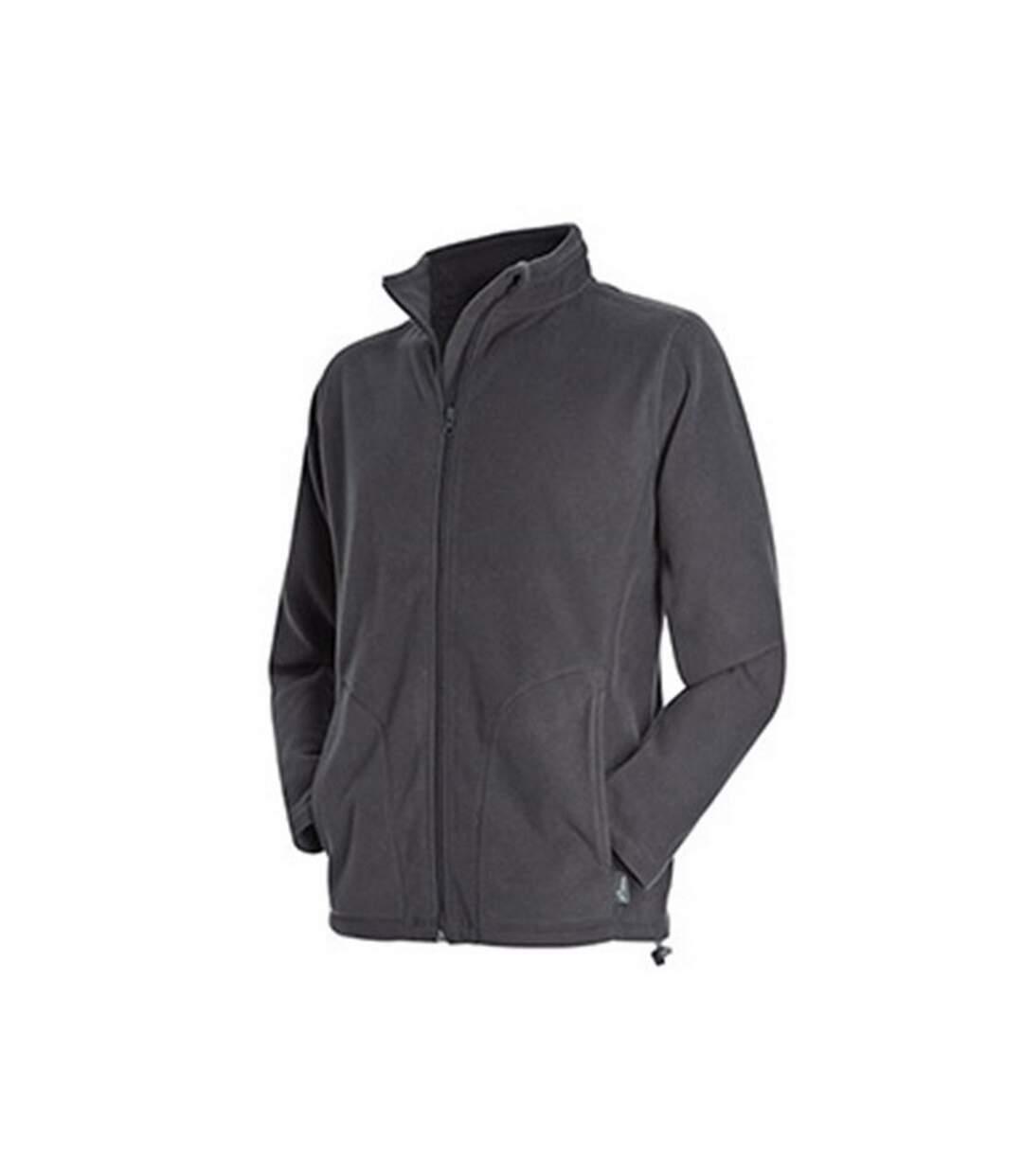Stedman Mens Active Full Zip Fleece (Grey Steel) - UTAB292