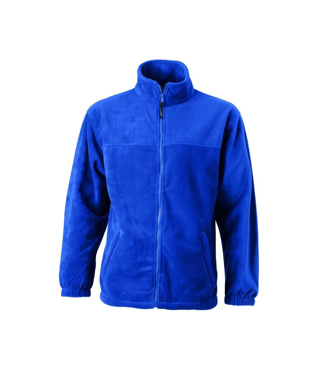 Veste polaire zippée homme - JN044 - bleu roi