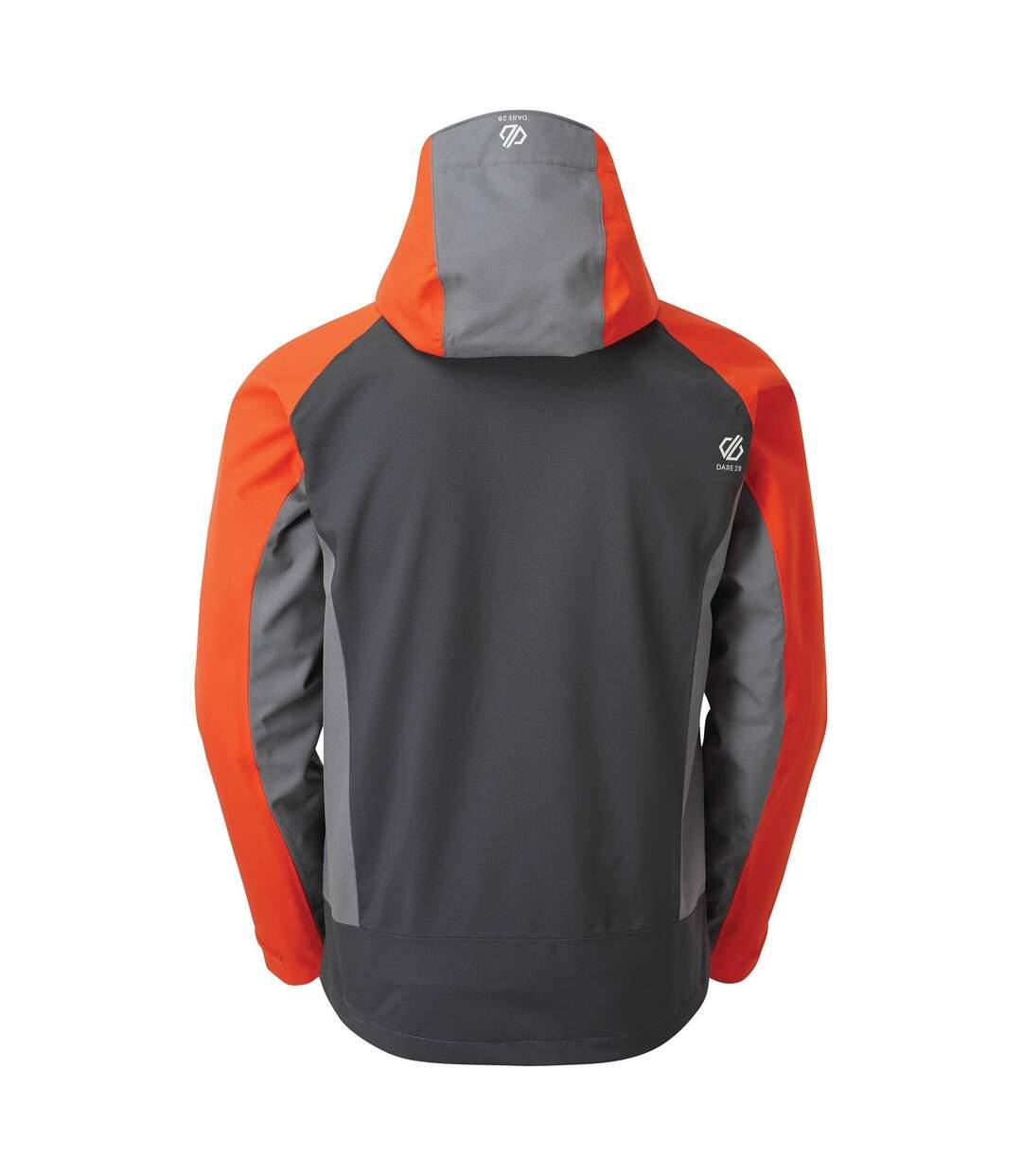 Dare 2B Mens Recode Waterproof Jacket (Ebony/Trail Blaze) - UTRG4341