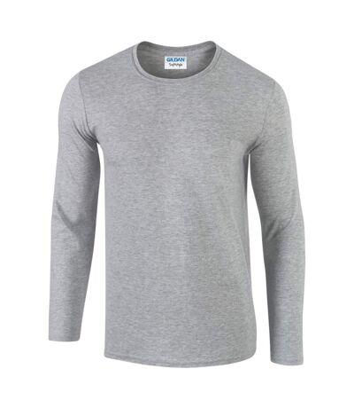 Gildan Mens Soft Style Long Sleeve T-Shirt (Sport Grey (RS)) - UTBC488