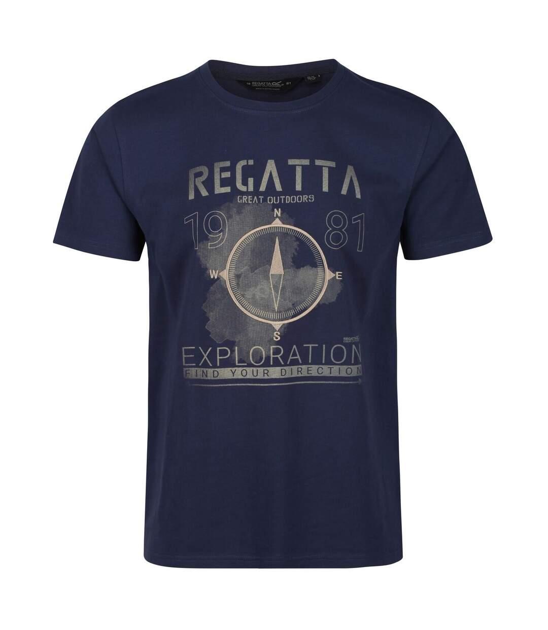 Regatta Mens Cline IV Graphic T-Shirt (Navy) - UTRG4920