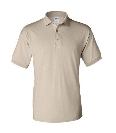 Gildan Adult DryBlend Jersey Short Sleeve Polo Shirt (Sand) - UTBC496
