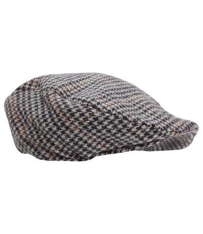 Mens Tweed Wool Blend Flat Cap (Design 5) - UTHA339