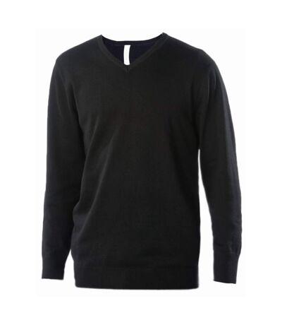 Kariban Mens Cotton Acrylic V Neck Sweater (Dark Grey) - UTPC3815