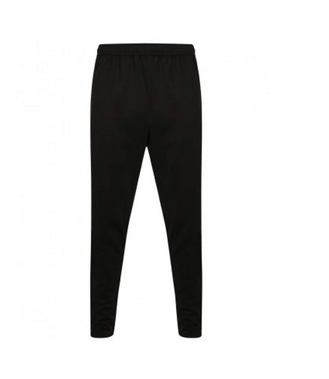 Finden and Hales Mens Knitted Tracksuit Pants (Black/Gunmetal Grey) - UTPC3353