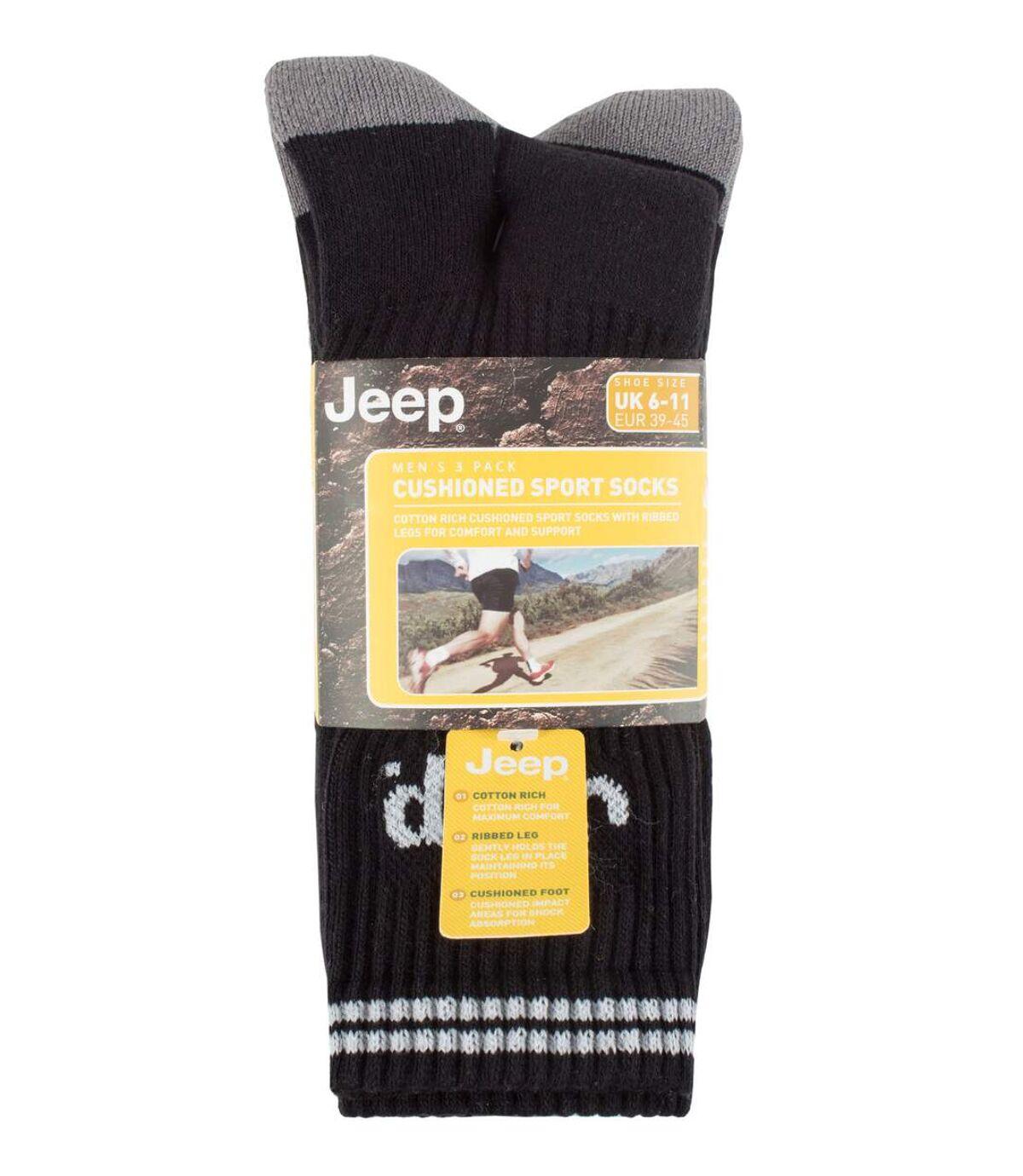 JEEP - 3 Pk Mens Cotton Striped Sport Socks