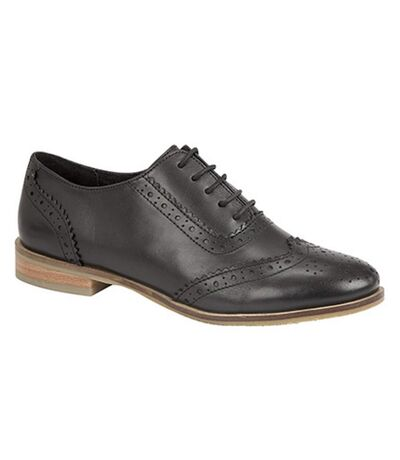 Cipriata Womens/Ladies Brogue Oxford Lace Up Leather Shoes (Black) - UTDF1187