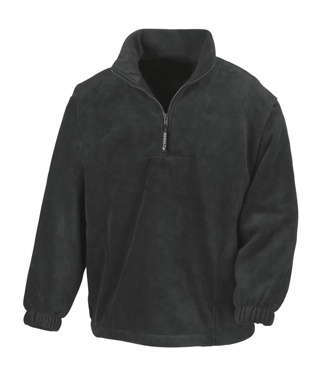 Result Unlined Active 1/4 Zip Anti-Pilling Fleece Top (Black) - UTBC920