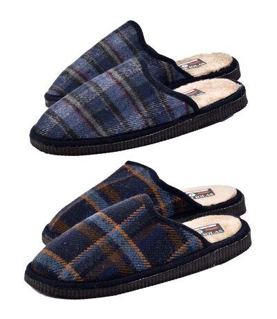 Pantoufles homme Confort et Qualité Supérieure Pack de 2 JACQUARD
