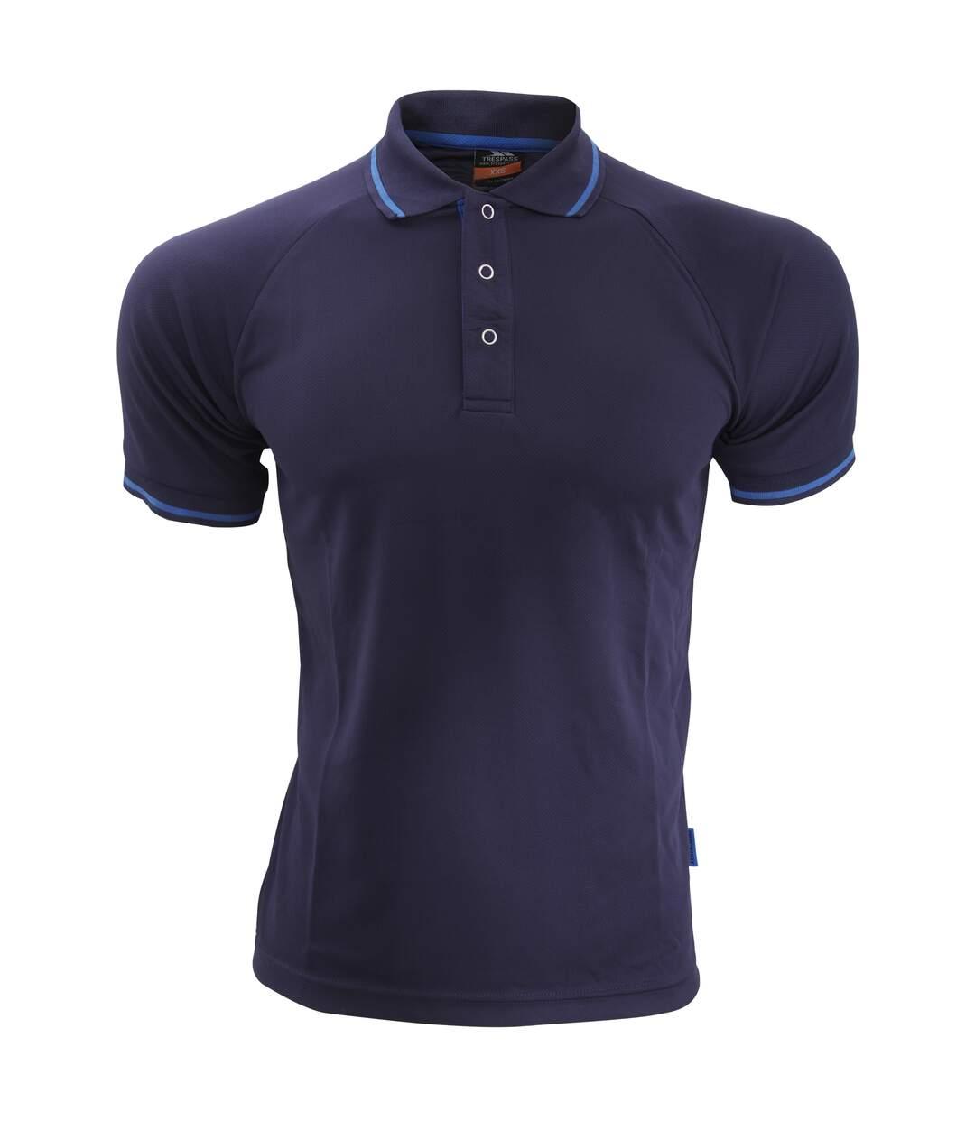 Trespass Mens Bonington Short Sleeve Active Polo Shirt (Airforce Blue) - UTTP2931