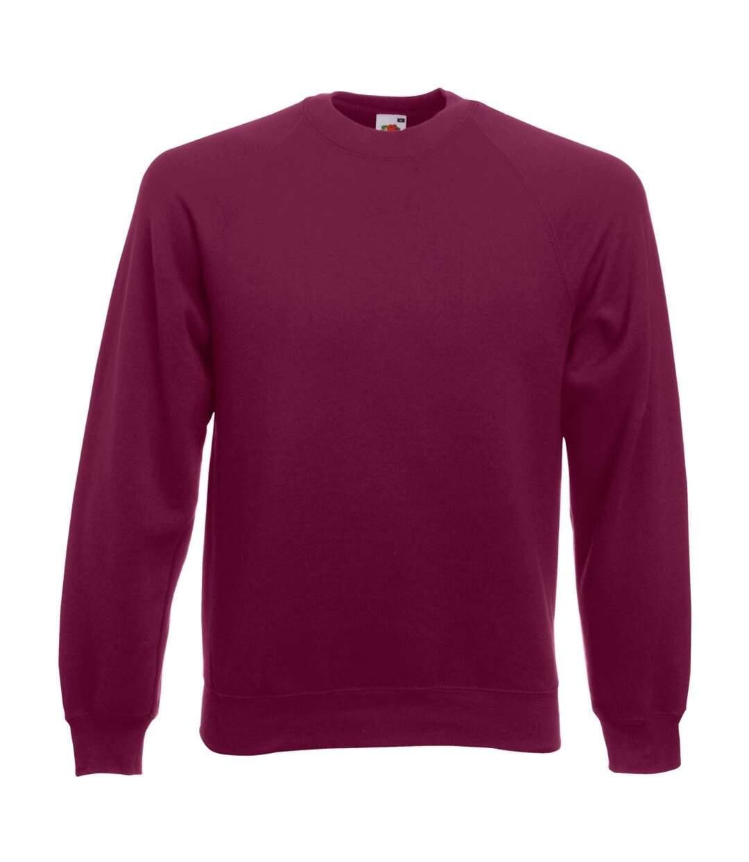 Fruit Of The Loom Mens Raglan Sleeve Belcoro® Sweatshirt (Burgundy) - UTBC368