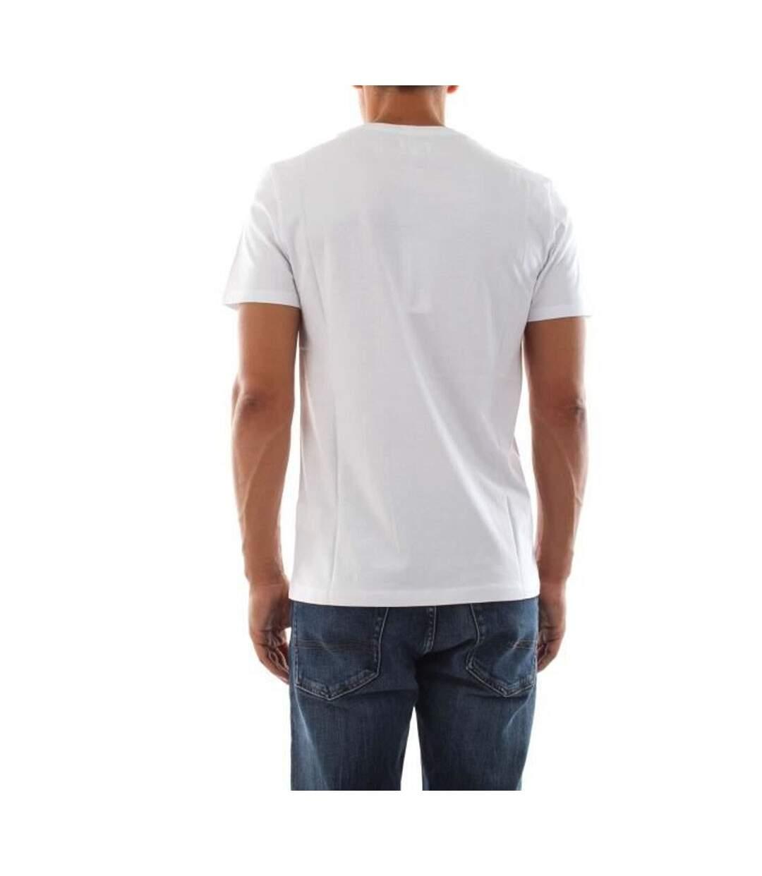 T Shirt Blanc Rouge Homme Wrangler SS LOGO TEE