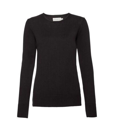 Russell Womens/Ladies Cotton Acrylic Crew Neck Sweater (Black) - UTPC3138