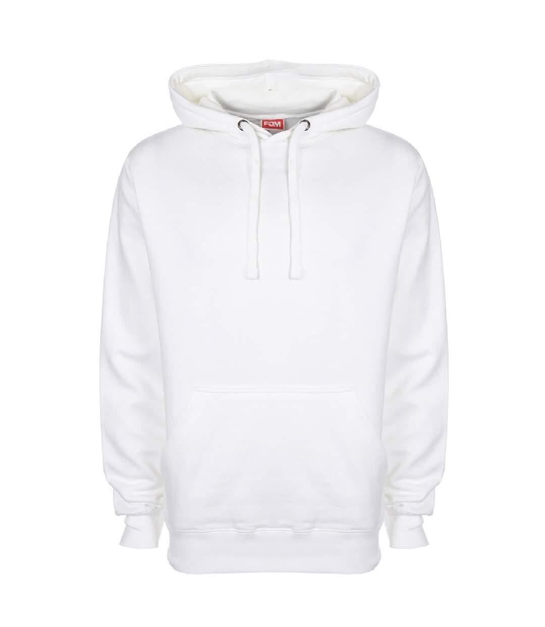 FDM Unisex Plain Original Hooded Sweatshirt / Hoodie (300 GSM) (White) - UTBC2024