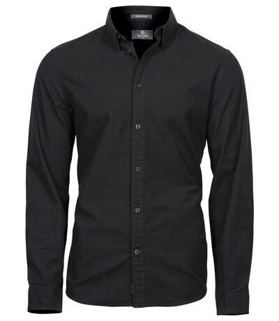 Chemise homme Casual Oxford - 4010 - noir - manches longues