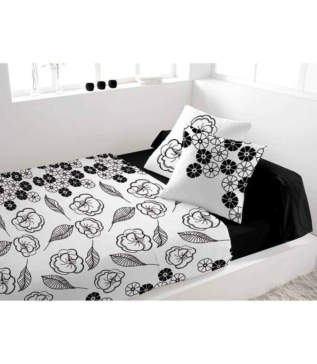 Parure de lit 4 pièces Xiuxiu Blanc - 240 x 300 - Percale