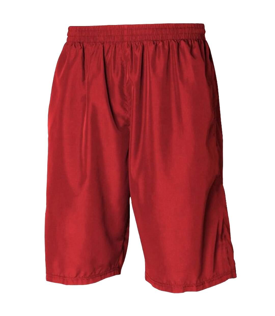 Tombo Teamsport Mens Teamwear All Purpose Longline Lined Sports Short (Navy/White) - UTRW1571