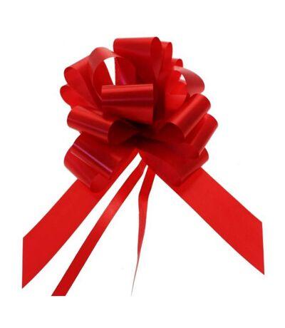 Apac - Nœud  pour cadeaux 50 mm (Lot de 20) (Rouge) (Taille unique) - UTSG11726