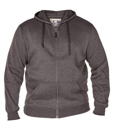 Duke Rockford - Sweat à capuche zippé grande taille - Homme (Gris) - UTDC104