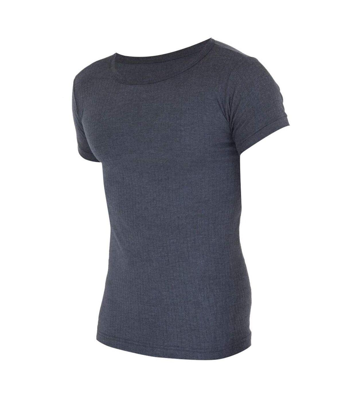 FLOSO - T-shirt thermique à manches courtes (en viscose) - Homme (Noir) - UTTHERM108