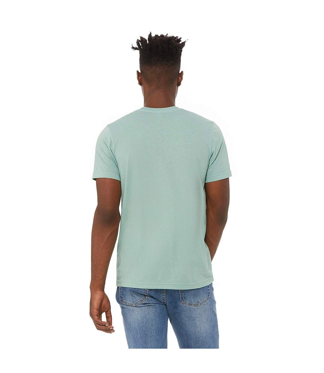 Canvas Mens Triblend Crew Neck Plain Short Sleeve T-Shirt (Dusty Blue Triblend) - UTBC2596