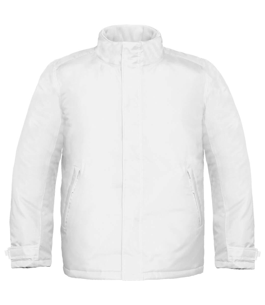 B&C Mens Real+ Premium Windproof Thermo-Isolated Jacket (Waterproof PU Coating) (White) - UTBC2002