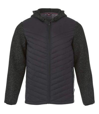 Slazenger Mens Hutch Insulated Hybrid Jacket (Heather Smoke) - UTPF2224