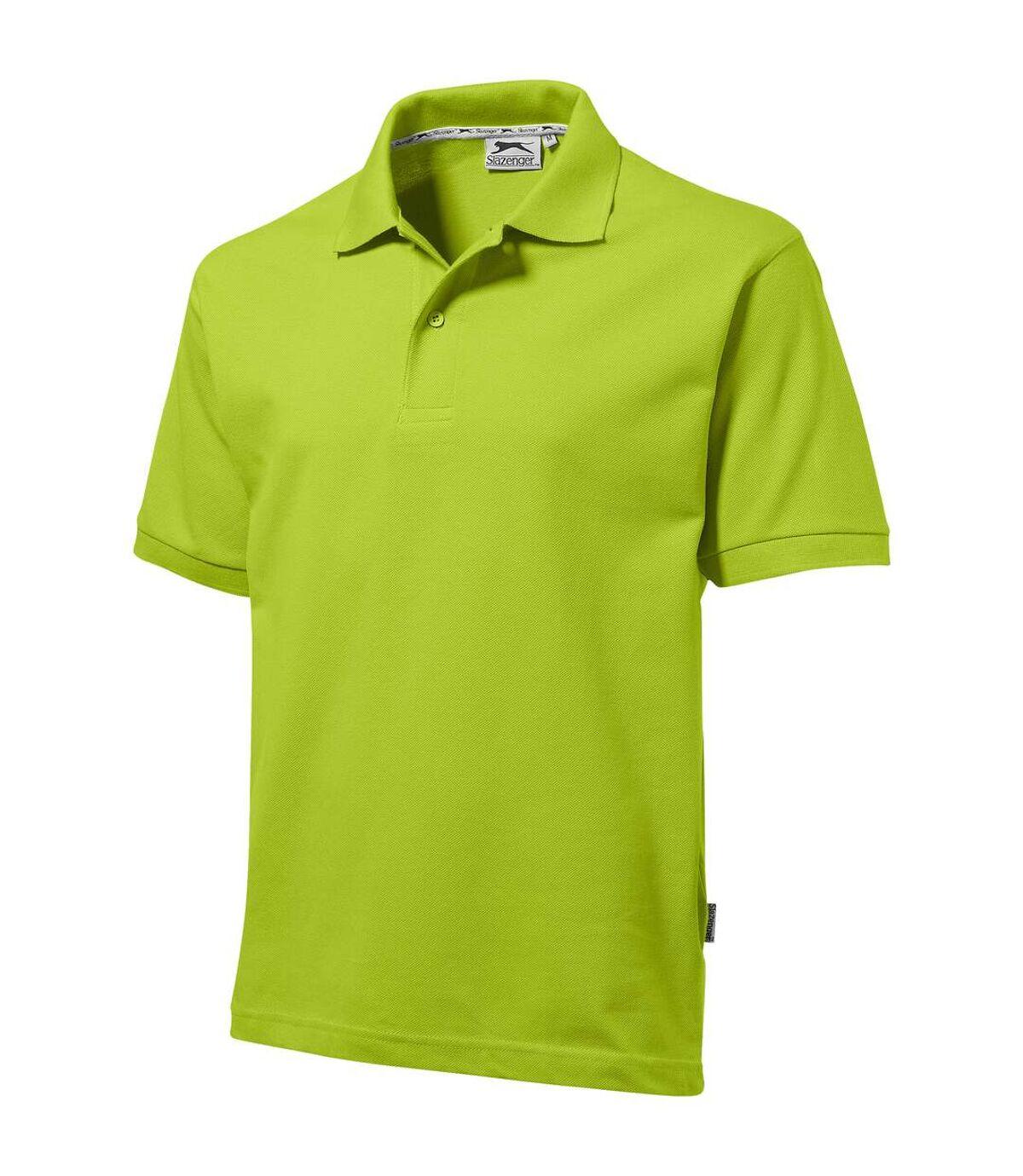 Slazenger Mens Forehand Short Sleeve Polo (Apple Green) - UTPF1800