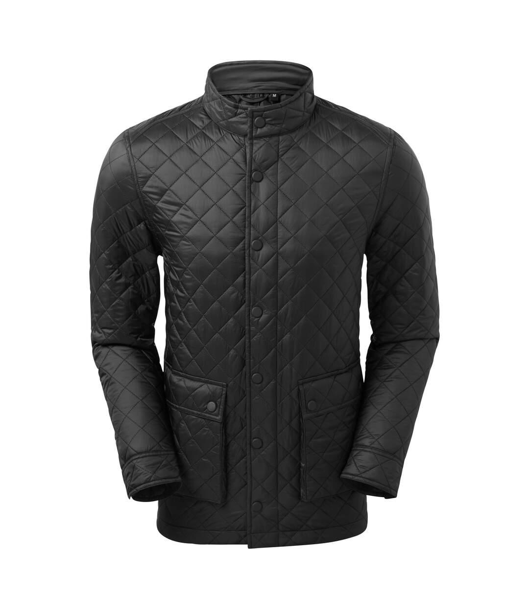 2786 Mens Quartic Quilt Jacket (Black) - UTRW7386