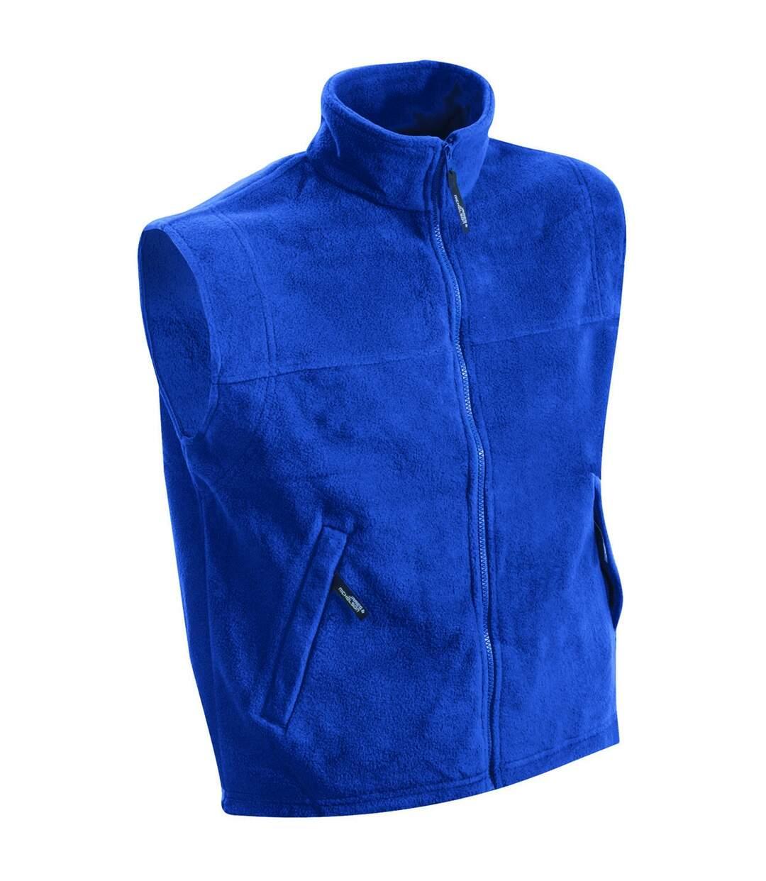 Gilet sans manches bodywarmer polaire homme - JN045 - bleu roi