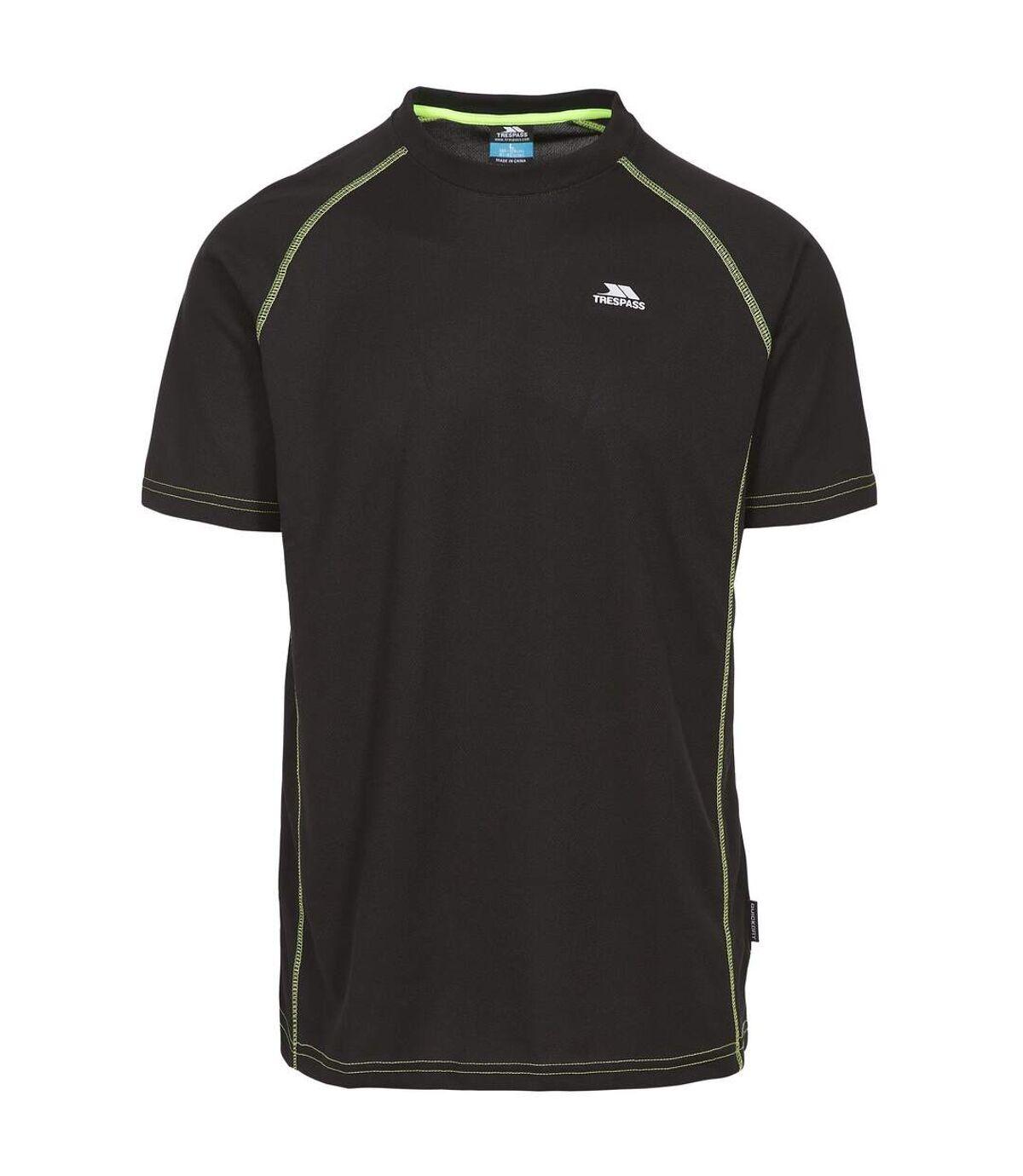 Trespass Mens Ethen Short Sleeve Active T-Shirt (Black) - UTTP3460