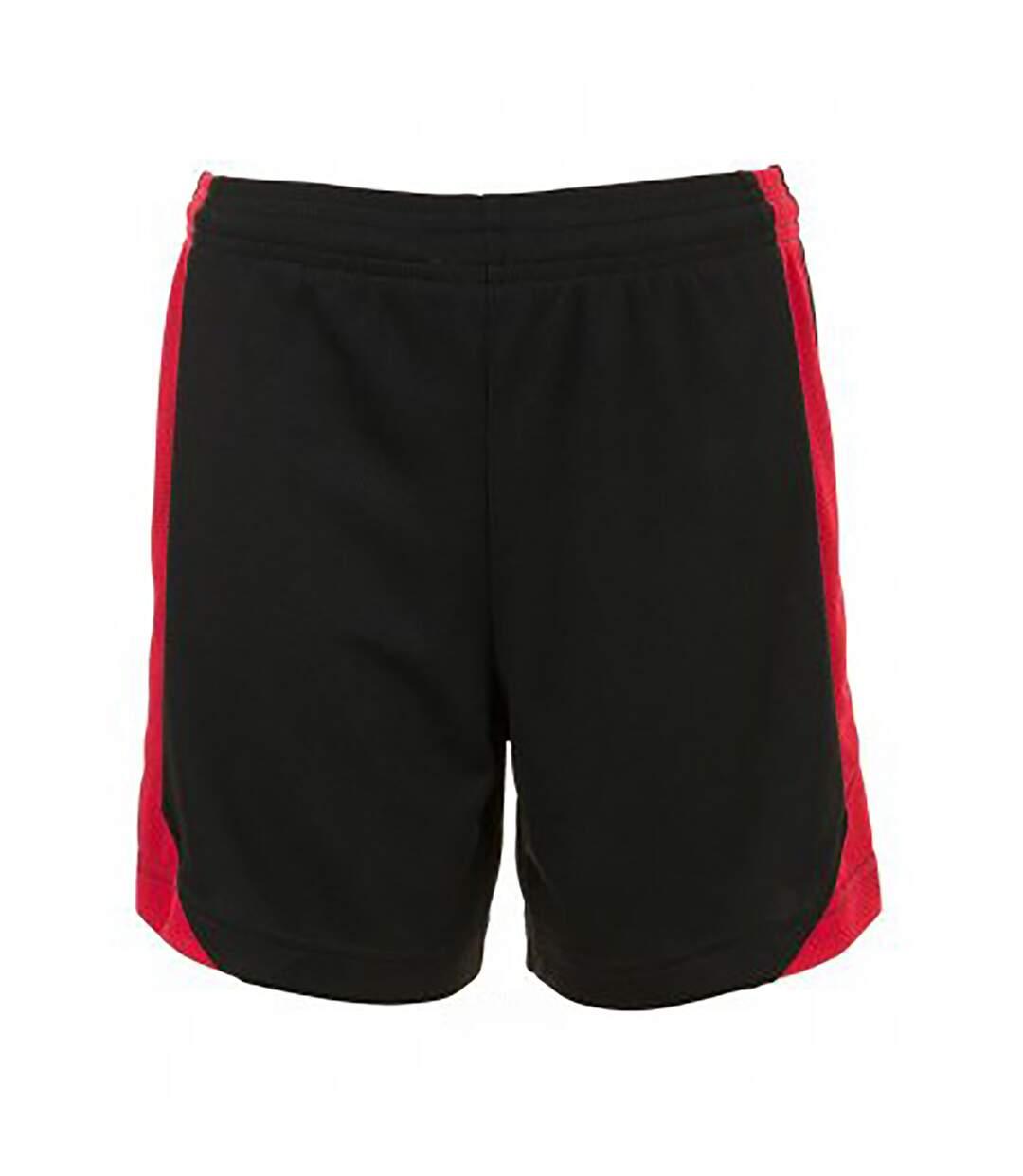 SOLS Mens Olimpico Football Shorts (Black/Red) - UTPC2788