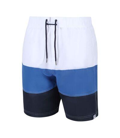 Regatta - Short de bain BRATCHMAR - Homme (Blanc/bleu/bleu marine) - UTRG4919
